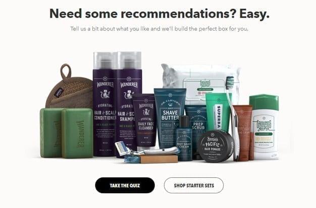 dollar shave club personalization